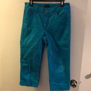 Not your daughters crop turquoise pants